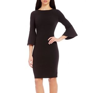 Calvin Klein Bell Sleeve Scuba Sheath Dress sz. 10